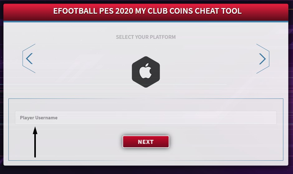 screenshot of efootball pes 2020 cheat tool