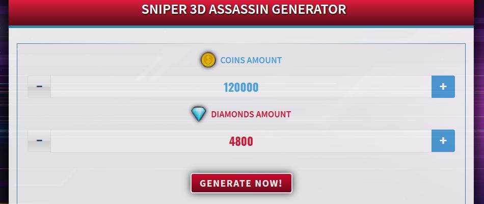 Generator for Sniper 3D Assassin
