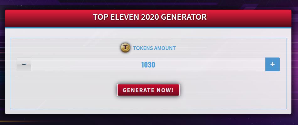 Top Eleven 2020 Generator