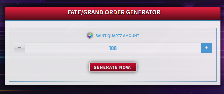 Fate/Grand Order Generator