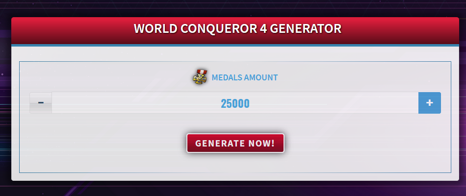 World Conqueror 4 Generator