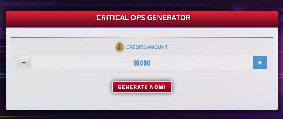 Critical Ops Generator