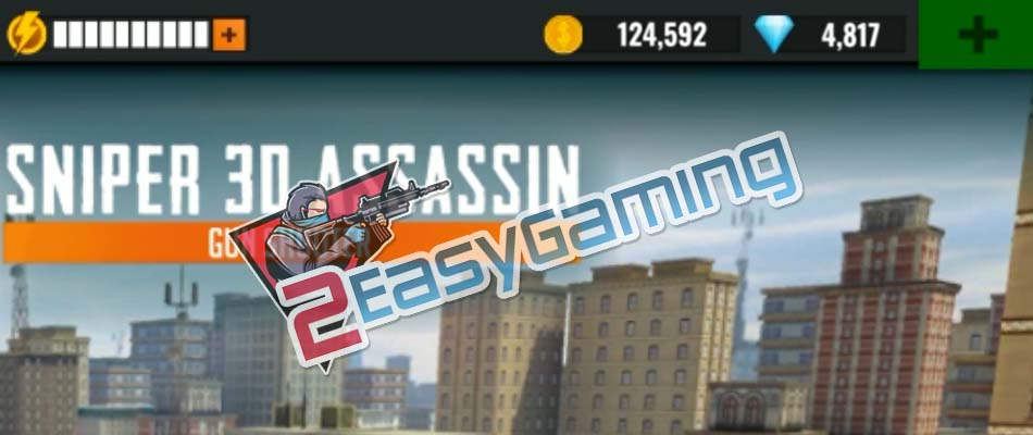 Coins and Diamonds for Sniper 3D Assassin