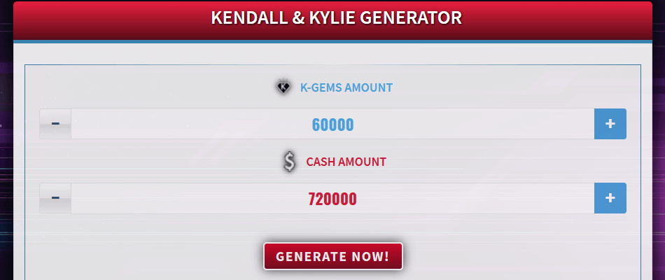 Free Generator for Kendall & Kylie