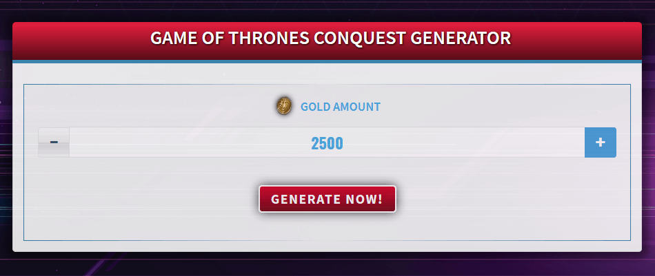 Free Generator for Game of Thrones Conquest