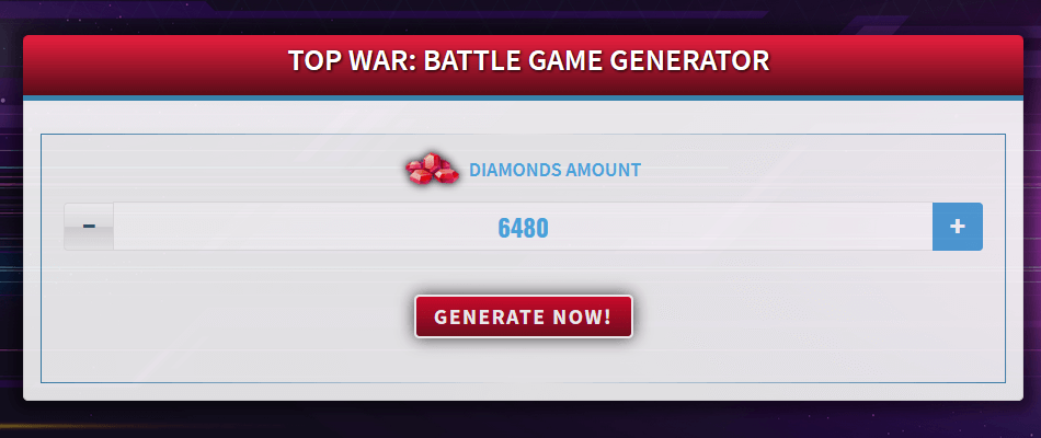 Free Generator for Top War: Battle Game