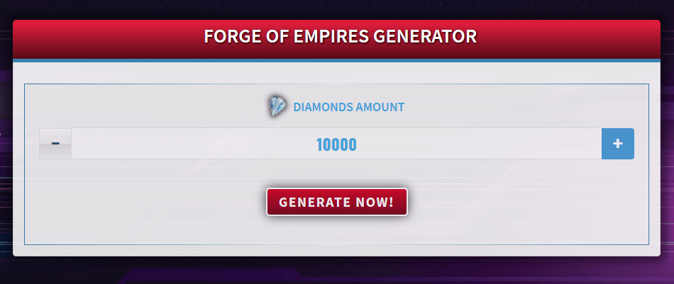 Free Generator for Forge of Empires