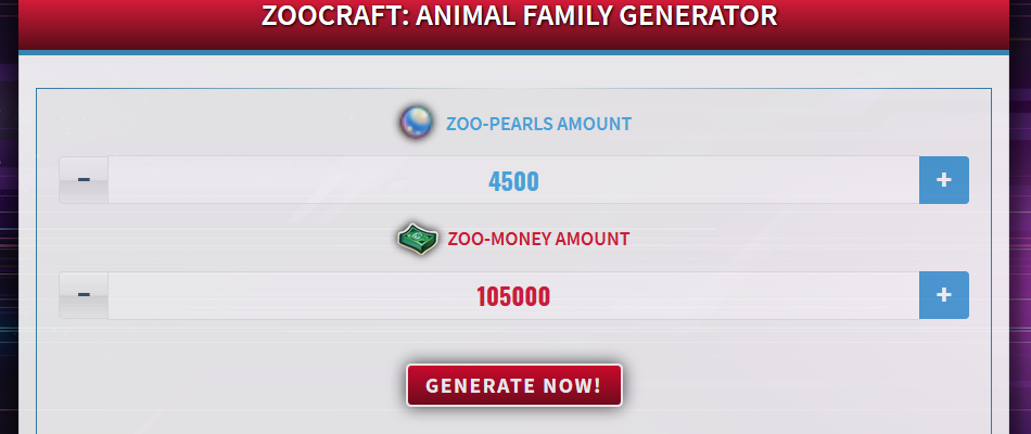 Free Generator for ZooCraft: Animal Family